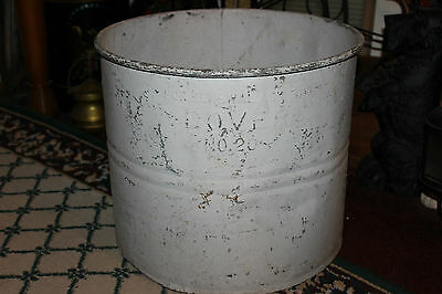 Antique Dover Steel Metal Industrial Slop Country Feed Bucket-No. 20-Very Large