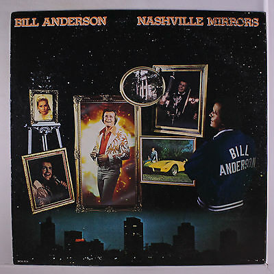 BILL ANDERSON: Nashville Mirrors LP (promo stamp on cover, slight cover wear)