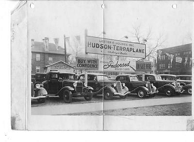 "Lester O Holmes Hudson-Terraplane Dealer Chicago IL 8"" x 10"" Commercial Photo"
