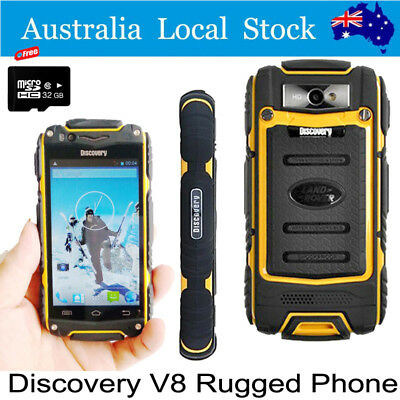 "32GB 4"" Android Discovery V8 3G Smartphone Rugged Waterproof Cell Mobile Phone"