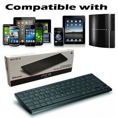 Official Sony Wireless Slim AWERTY Bluetooth Keyboard for PS2/3/4 & iPad iPhone