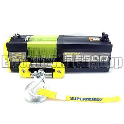 NEW: Superwinch S5500 12v Electric Trailer Winch with Steel Rope