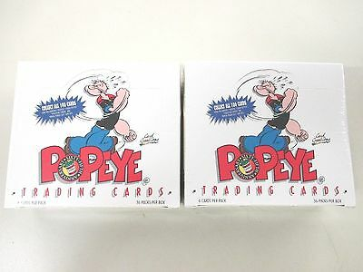 2 box of 1994 Card Creation Popeye 65th Anniversary Trading Card Box 36 packs
