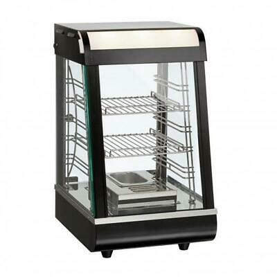 Pie Warmer & Hot Food Display, Angled Front 380x465x658mm, Commercial Equipment