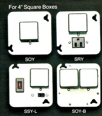 "BUSSMANN Box Cover Unit SSY-L for Plug Fuses 4"" Square 15A 125V NOS New OldStock"
