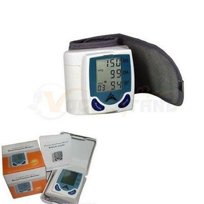 New Digital Automatic Wrist Blood Pressure Monitor Tester US Shipping