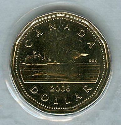 2006 Loonie $1 One Dollar '06 Canada/Canadian BU Coin UNC Un-Circulated