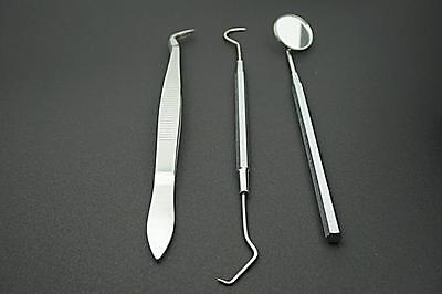 Dental Kit Tooth Scraper Dental Mirror Scaler Tartar Calculus Plaque Remover 3PC