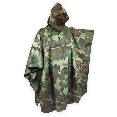 US Poncho woodland RipStop