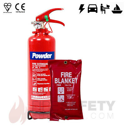 2kg ABC DRY POWDER (OFFICE/CAR/HOME/VEHICLE) FIRE EXTINGUISHER + 1M BLANKET