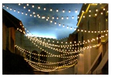 NEW CUSTOM Outdoor 50' String 40-Light KIT Incand 11S14 Bulbs ANY COLOR Party