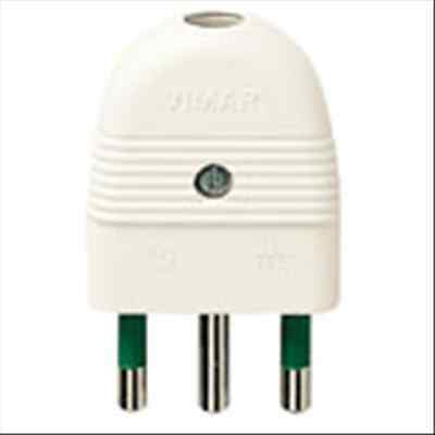Vimar 01026.B Spina 2P+T 16A Assiale Bianco