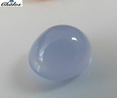 1x Chalzedon -  Oval Cabochon  IF 12,6x11,0x8,4mm (2005)