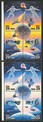 2634b- 29c U.S./Russian Space - Yellow Omitted - 2004 PSE Cert for Sheet
