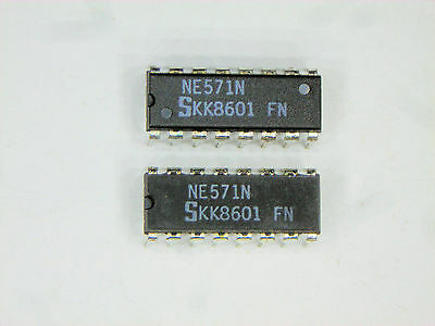 "NE571N  ""Original"" Signetics  16P DIP IC  2  pcs"