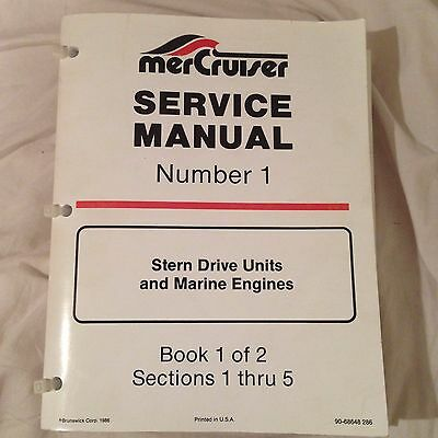MerCruiser Service Manual (stern drive units and marine engines)