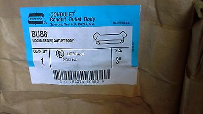 """Cooper Crouse-Hinds BUB8 3"""" Mogul Condulet Conduit Body >10 available Free Ship"""