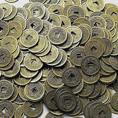 100PCS Feng Shui Chinese Dragon Coins Coin for good Luck PROSPERITY PROTECTION