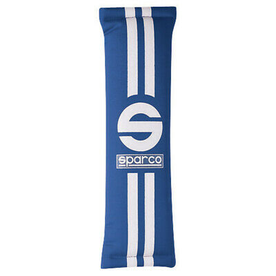 Sparco 77 Double Stripe Harness Pads For 2 Inch Wide Harness In Blue