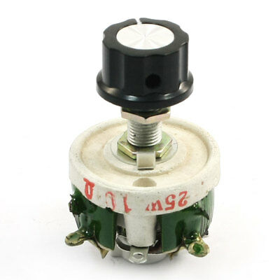 Single Turn Resistor 25W 10 Ohm Adjustable Taper Ceramic Disk Rheostat