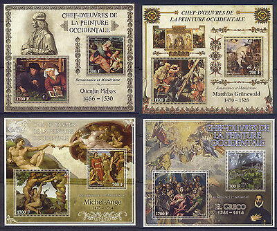 Ivory Coast Masterpieces of Western Art Renaissance 15 MNH sheets set