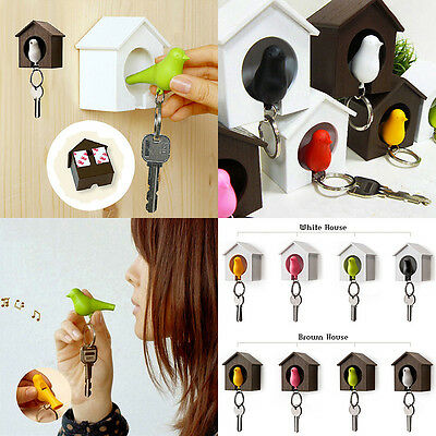 Bird House Nest Whistle Key Holder Chain Ring Keychain Keyring Hanger