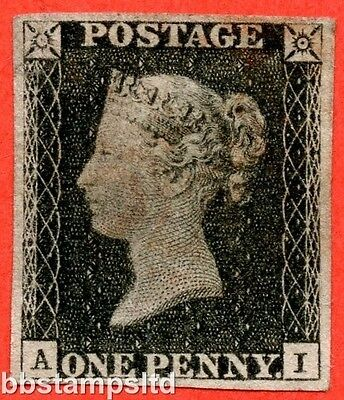 """SG. 2. A1 (2). AS5. """" AI """". 1d black. Plate 1b. A fine used example."""