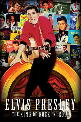 Elvis Presley The King of Rock N Roll Album Covers 24 x 36 Inches Music Poster