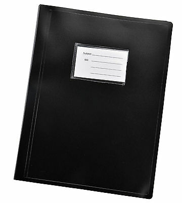 Black A4 flexicover 104 pocket display book presentation Document Folder-DB10BK