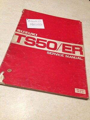 Suzuki TS50 TS50ER TS 50 ER workshop service manual manuel atelier  éd. 80
