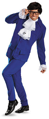 Deluxe Austin Powers Adult Mens 60s Halloween Fancy Dress Suit Costume Party STD