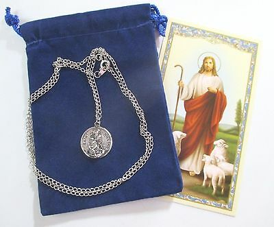 St. William Saint Medal with 24 Inch Necklace