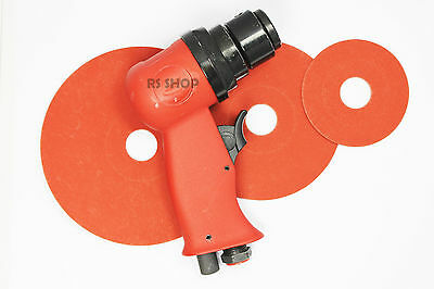 """5"""" High Speed Air Sander Rust Removal Tool Sanding Feathering with 3x Resin Pads"""