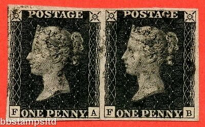 "SG. . A1 (1). AS24. "" FA FB "". 1d intense black. Plate 5. State 1. A fine used."