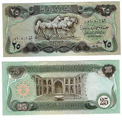 Fb482 Billete Iraq 25 Dinares Sc