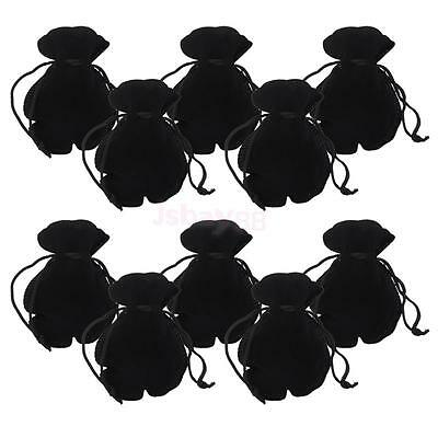 lot 10 Packing VELVET Jewelry Drawstring Gift Bag Storage POUCHES 9.8 x 8cm