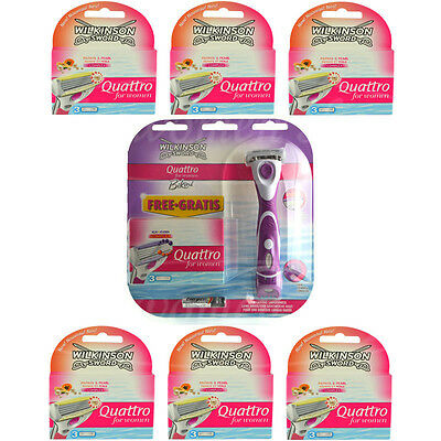 22 Wilkinson Quattro for women Rasierklingen Papaya Pearl + Bikini Razor