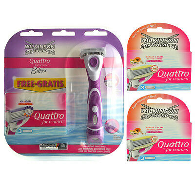 10 Wilkinson Quattro for women Rasierklingen Papaya Pearl + Bikini Razor