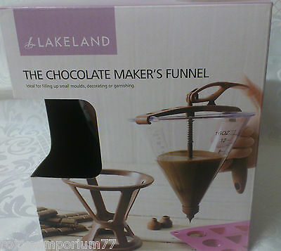 Easy Pour Batter Chocolate Makers Funnel With Base And 3 Nozzles Cake Decorating