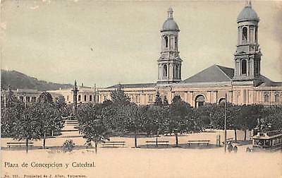 CONCEPCION, CHILE ~ PLAZA DE ARMAS & CATHEDRAL~ used 1931