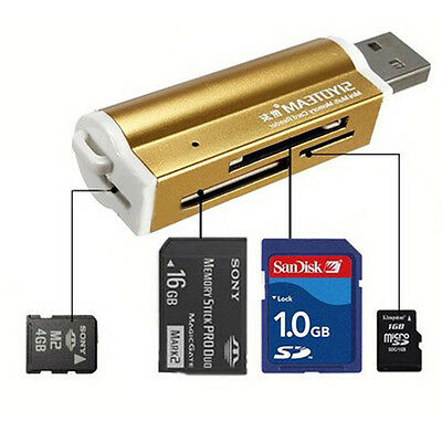 Hot USB 1 Multi Memory Card Reader for Micro SD MMC SDHC TF M2 Memory Stick