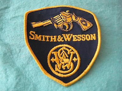 "Vintage Smith & Wesson Gun Patch Sew On 3"" X 3 1/4"""