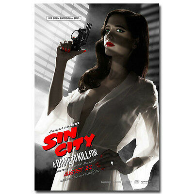 Sin City Eva Green Movie Silk Fabric Poster 24x36 inch