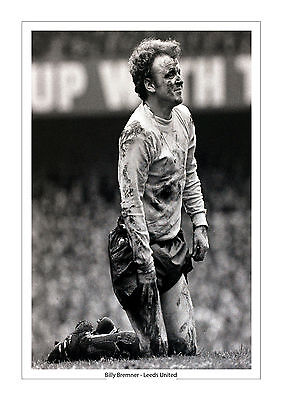 Billy Bremner Iconic Image In The Mud Leeds United  A4 Print Photo  Leeds Utd