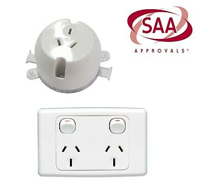 10 A X Amp 240V Double Power Point Electrical Wall Socket outlet GPO wall switch