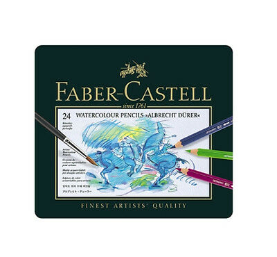 Faber Castell Albrecht Dürer Watercolor Color Colored Artists Pencils Tin of 24