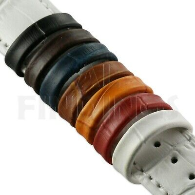 Leather watch strap retaining loop band keeper holder all colours