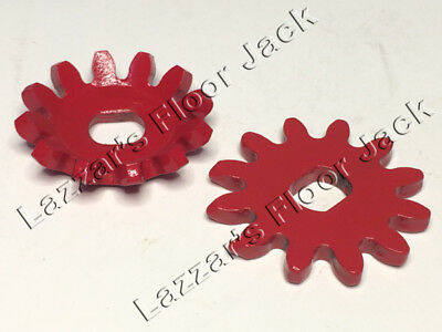 Floor Jack Gears, (2 Piece Set). Cupped Gear and Flat Gear, Fits Many