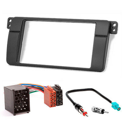 CARAV 11-498-3-67 Fascia plate Install dash Kit for BMW 3 Series E46 double DIN