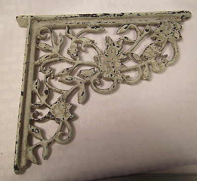 "Vintage Cast Iron Bracket 8 5/8"" x 7 3/16""  Architechural Decorative Collectible"